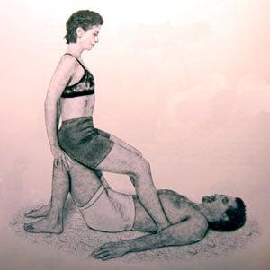 Partner Yoga Pose: Grounded Backbend