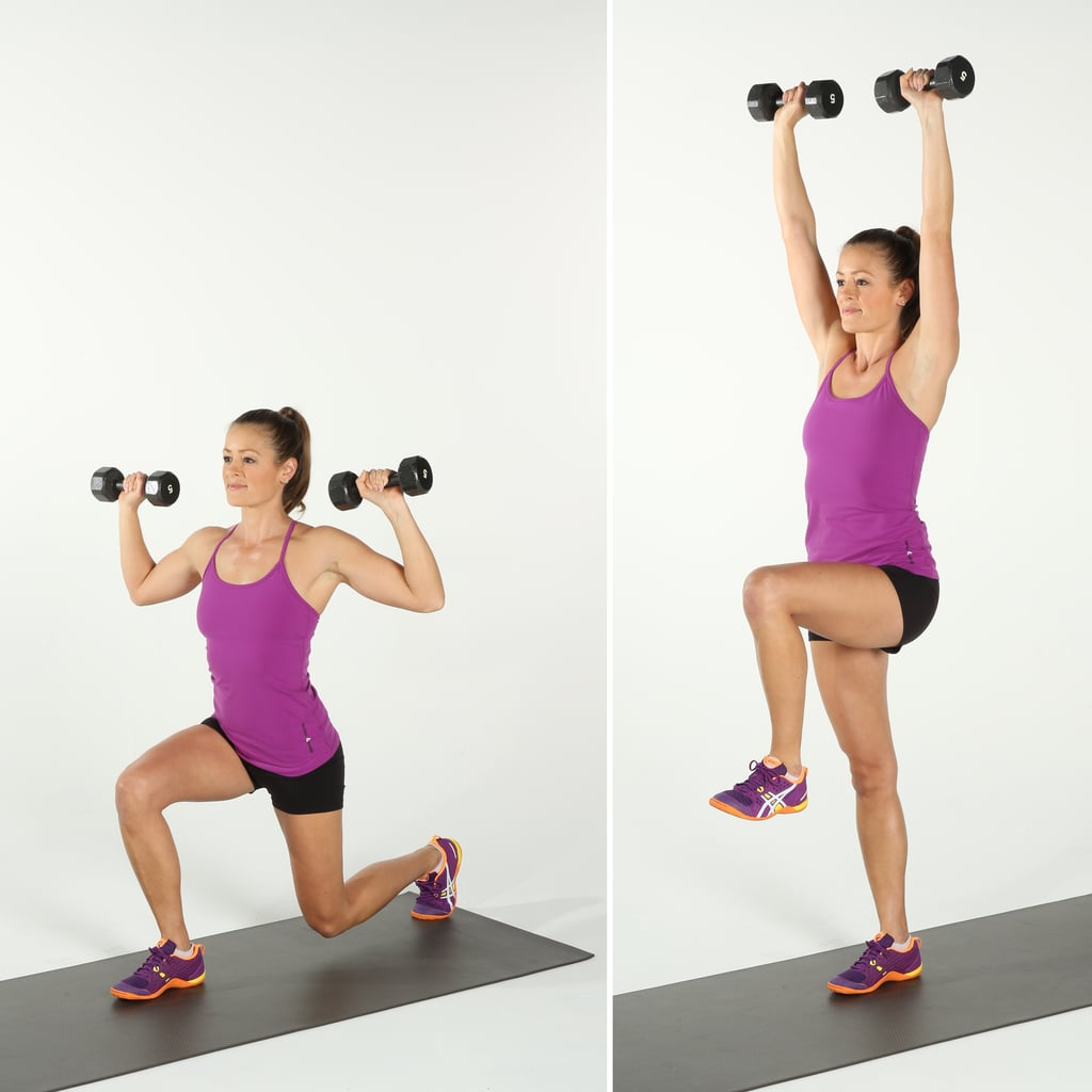 Reverse Lunge and Press