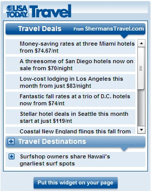 Geek Tip: USA Today Adds New Travel Widget