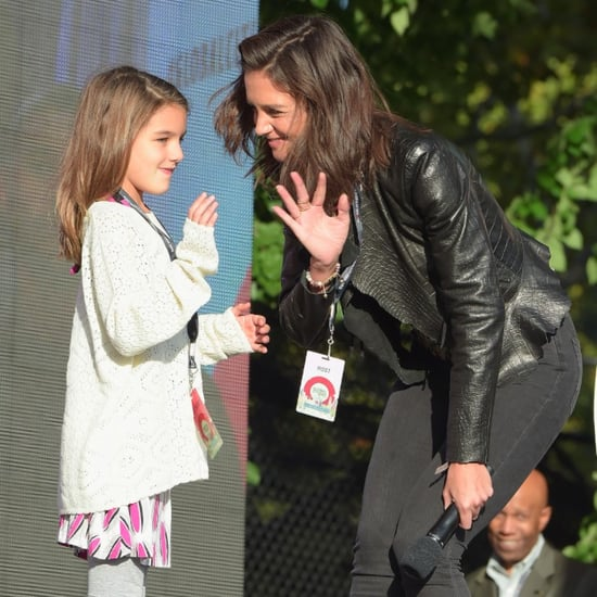 Katie Holmes and Suri Cruise at the Global Citizen Festival