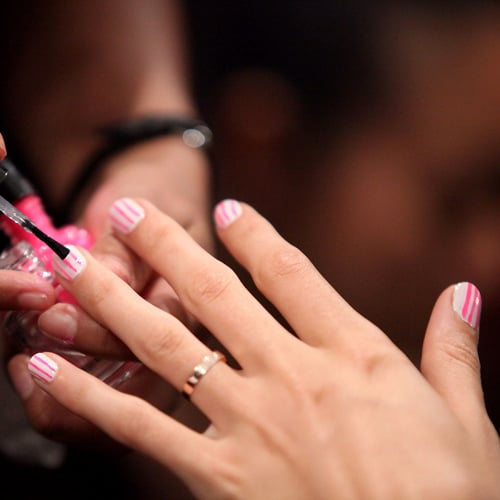 The Racing-Stripe Nails at Rebecca Minkoff
