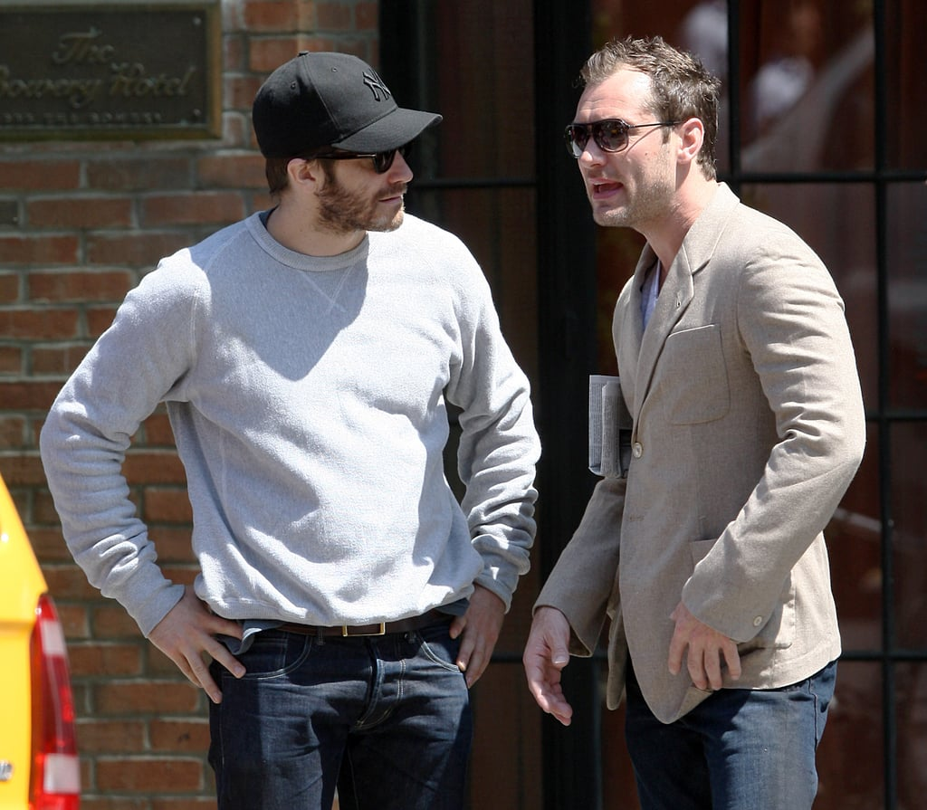 Jake Gyllenhaal Breaks From Spinning to Spend Time With Jude Law
