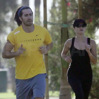 Reese Witherspoon and Jake Gyllenhaal Run Together in LA