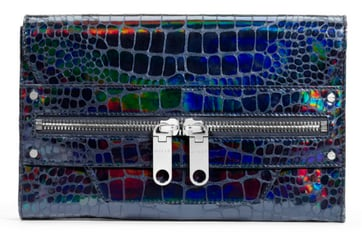 Milly Tatum Metallic Clutch ($450)