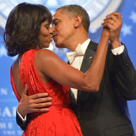 Michelle Obama and Barack Obama at 2013 Inaugural Ball