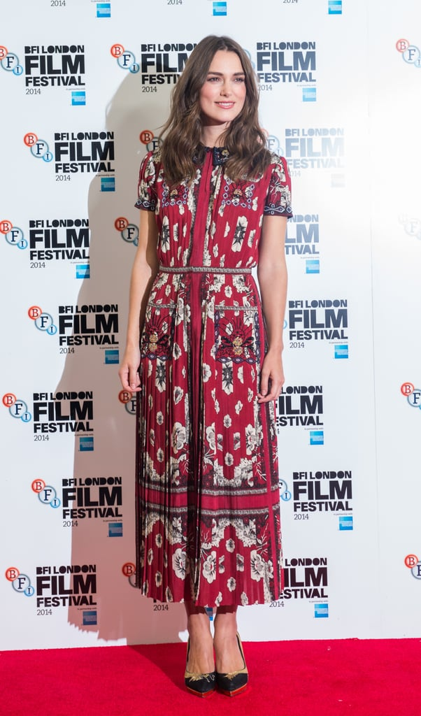 Keira Knightley at a Photocall for The Imitation Game