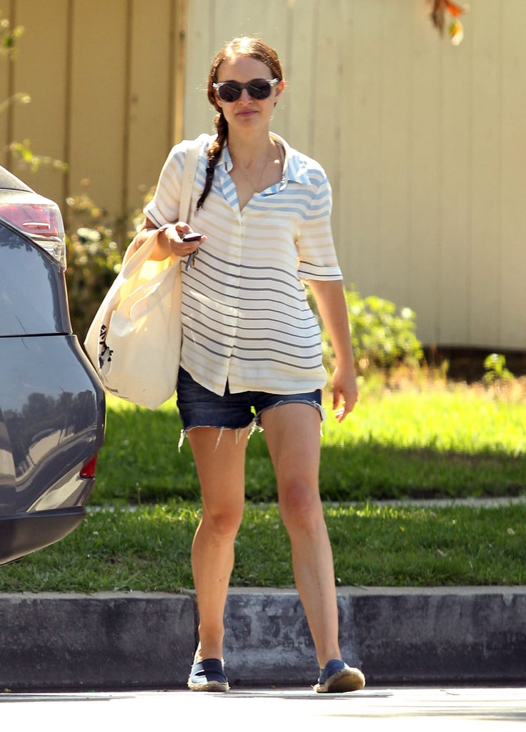 Natalie Portman was all smiles, sporting a pair of shades for a sunny day in LA.