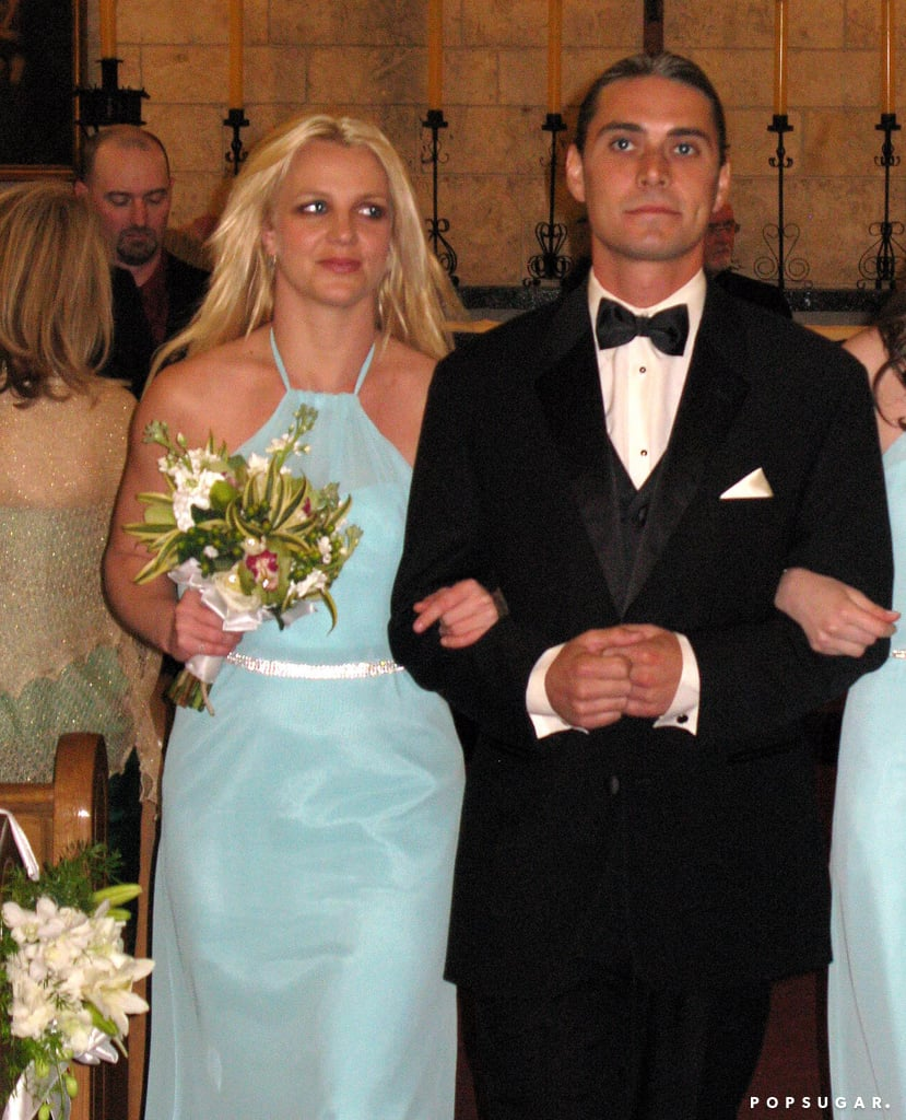 Britney Spears wore blue for a Miami ceremony in January 2011.