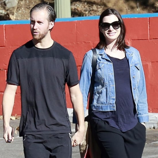 Anne Hathaway and Adam Shulman in LA After Pregnancy News