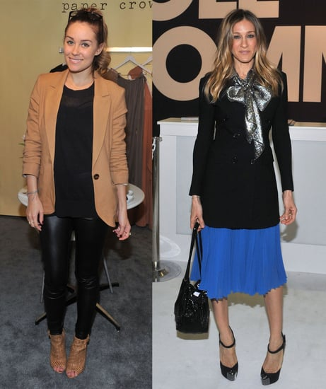 Pictures of Sarah Jessica Parker and Lauren Conrad at ENK Fashion Coterie in NYC