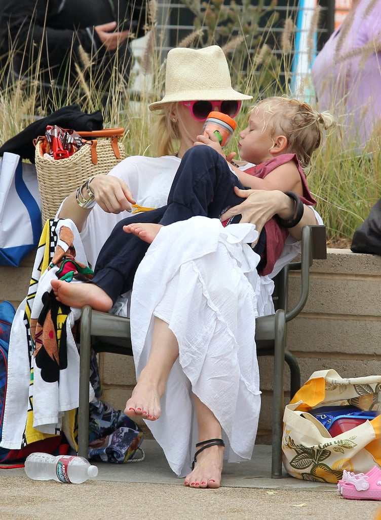 Gwen Stefani visited the beach with her son Zuma on Saturday in LA.