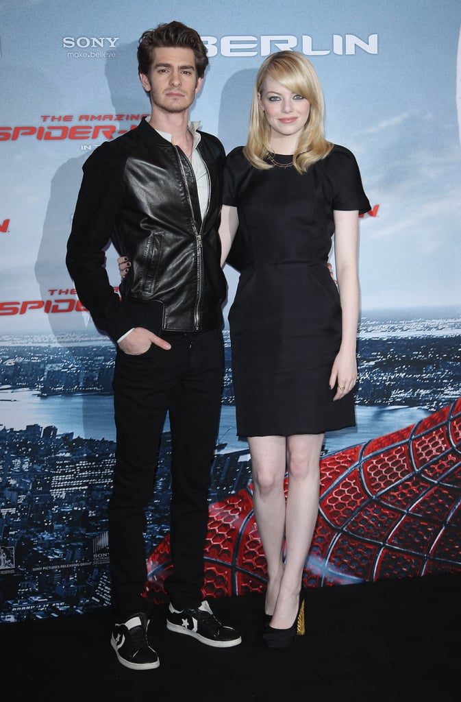Emma wore a simple Martin Grant LBD with gold-heeled Christian Louboutin pumps and an edgier Jennifer Meyer necklace to the film's Berlin photocall.