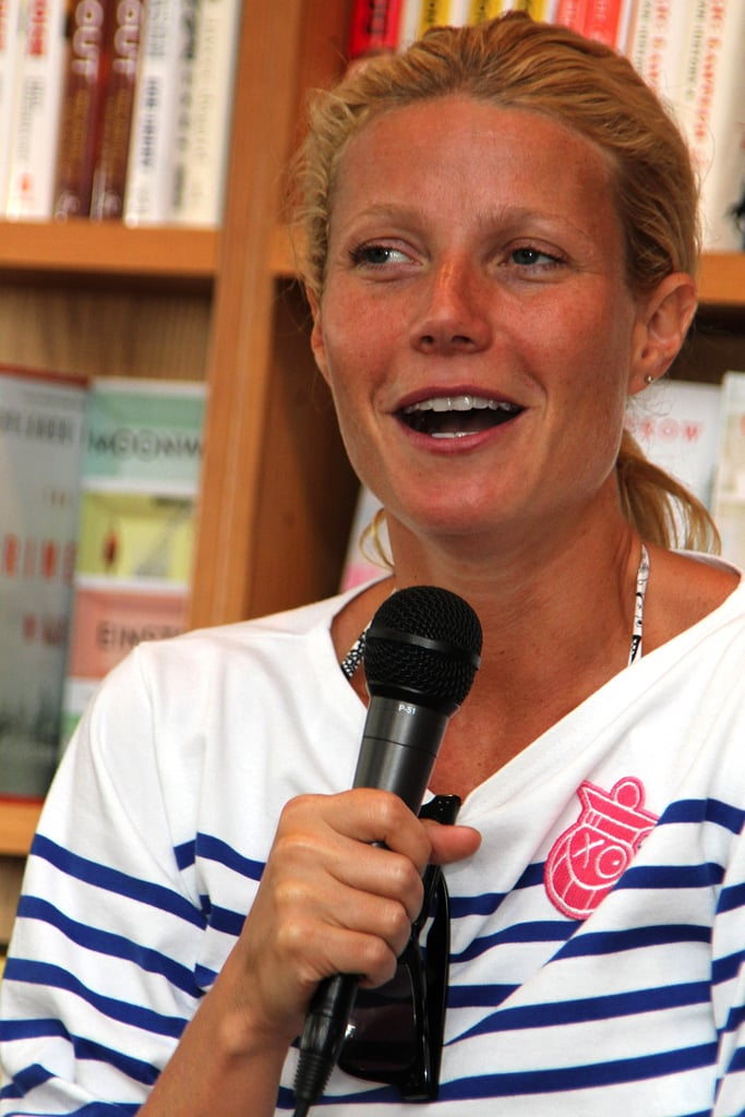 Gwyneth talked to the crowd of fans gathered in the Hamptons.