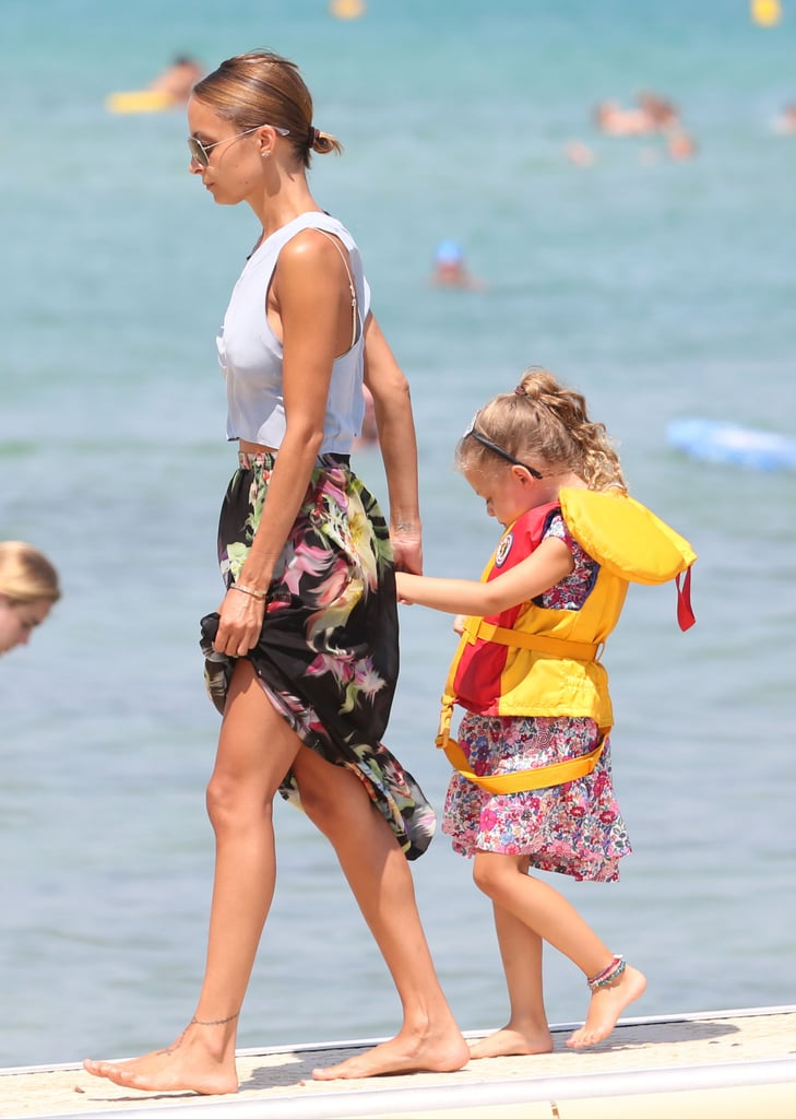 Nicole Richie held on to Harlow Madden's hand during a July trip to St.-Tropez.