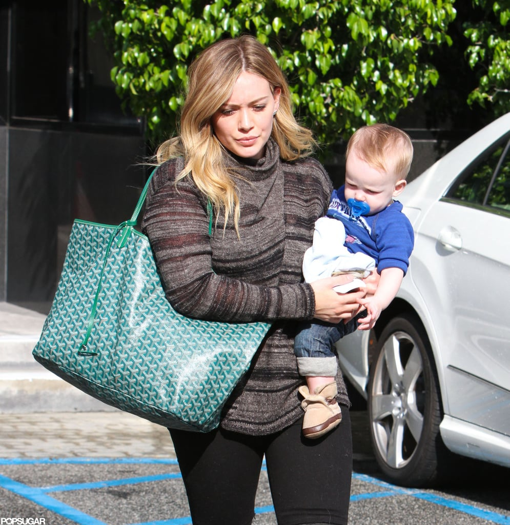 Hilary Duff made her way to her car after an outing with Luca in LA.