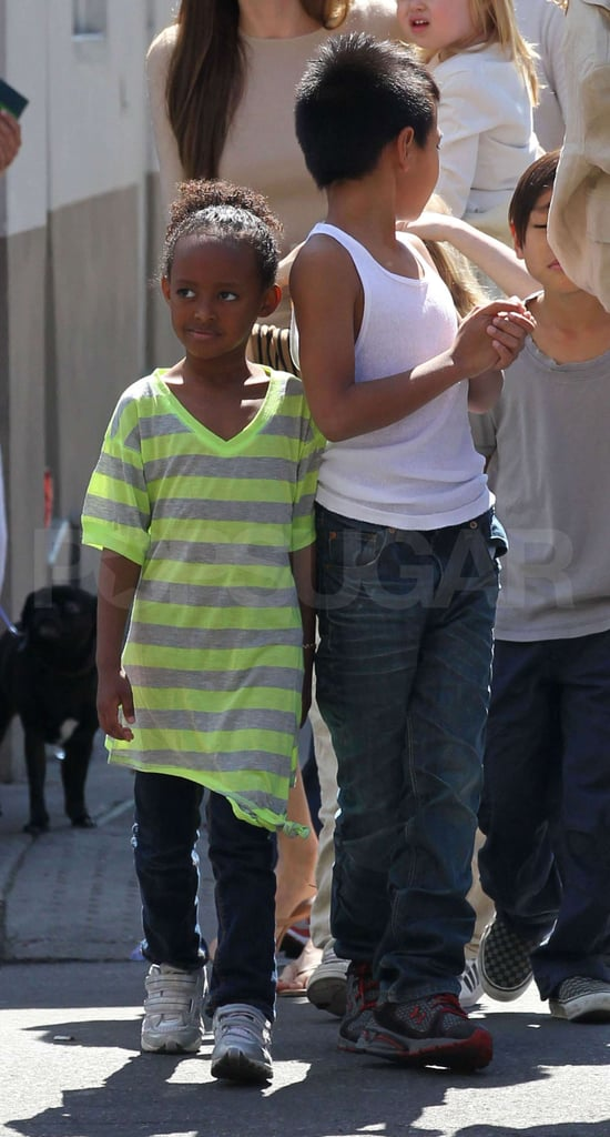 Pics: Angelina Jolie and Brad Pitt Out With All Six Kids in New Orleans!