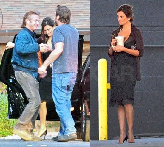 Photos of Penelope Cruz and Javier Bardem with Sean Penn