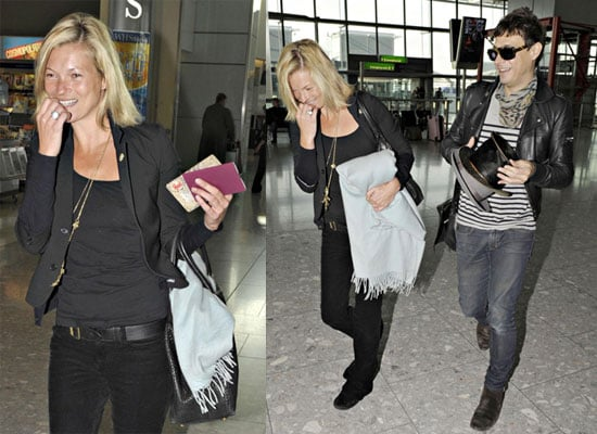 Kate Moss and Jamie Hince at Heathrow Airport