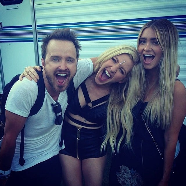 Aaron Paul and his wife were happy to meet Ellie Goulding. Source: Instagram user glassofwhiskey