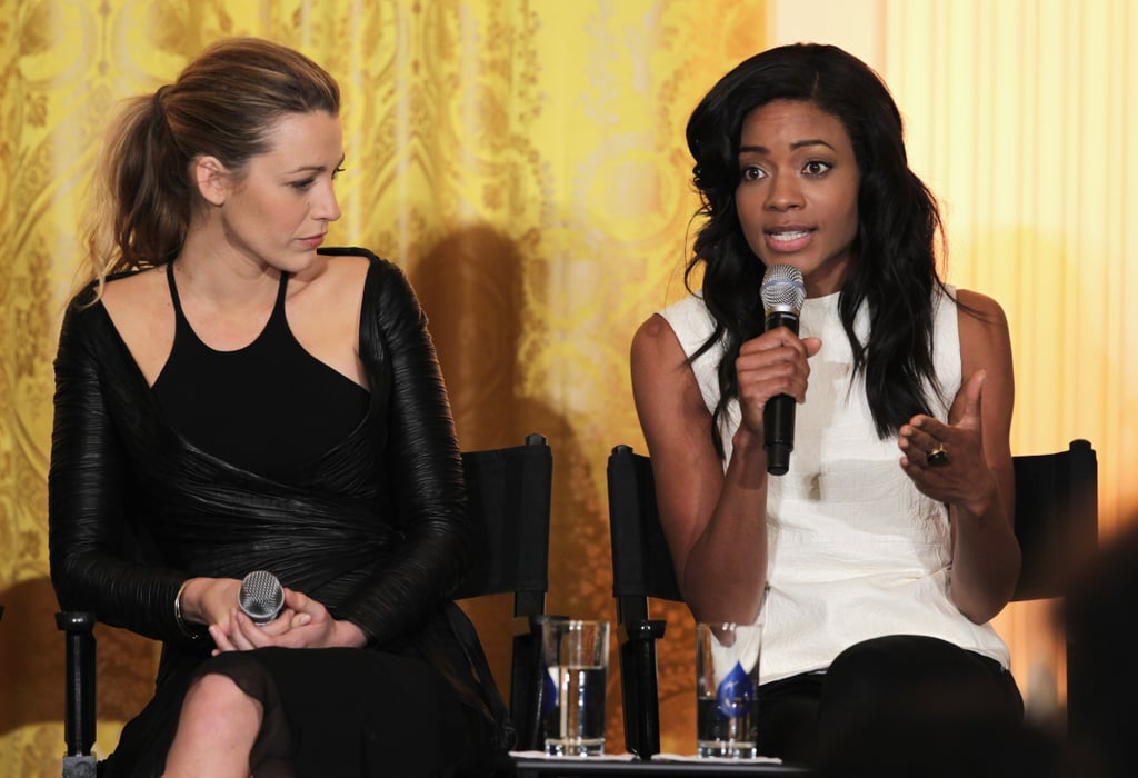 Blake Lively and Naomie Harris spoke about the film industry during a workshop hosted by Michelle Obama at the White House.