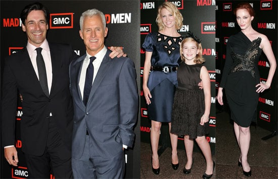 Photos of January Jones, Jon Hamm at Mad Men Season Three Premiere in LA