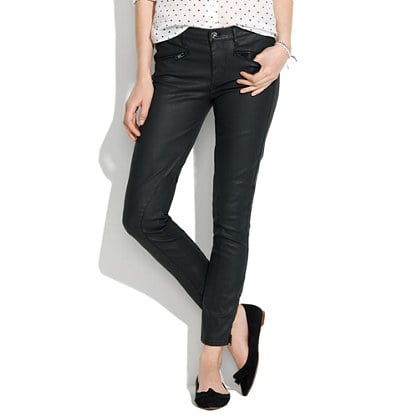 Madewell just launched a new denim line and introduced us to these perfect skinny ankle coated motorcycle jeans ($135) that can work for day and night, flats and heels, movies and dance parties. The styling combinations are endless. — MC