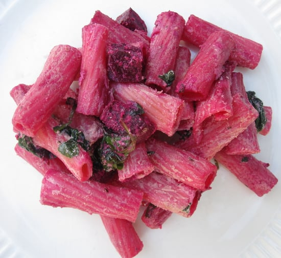 Easy Pasta With Roasted Beets and Spinach Recipe