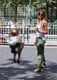 Jessica Alba and Haven Warren played at an NYC park.