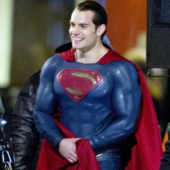 Henry Cavill on the Set of Batman v Superman