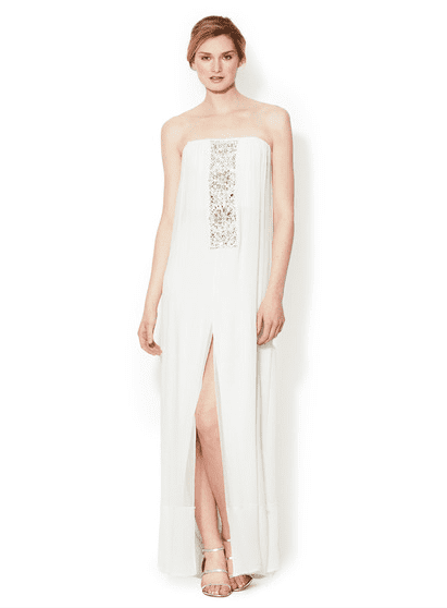 BCBG Max Azria's silk Exene gown ($249, originally $521) was made for a beach setting.