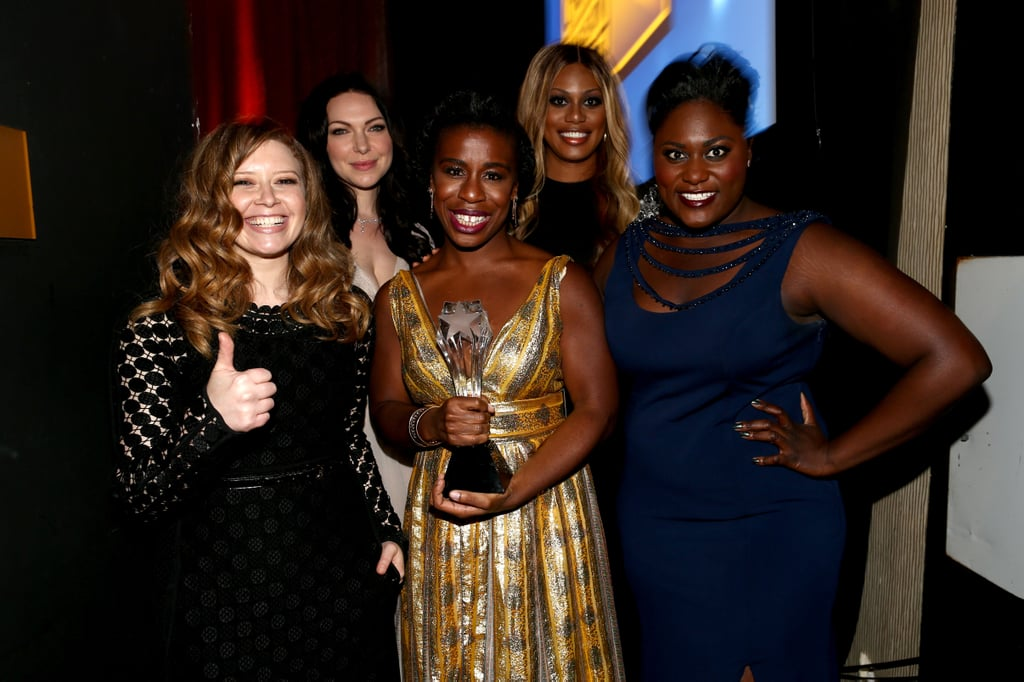 The Orange Is the New Black girls practically glowed with their win.