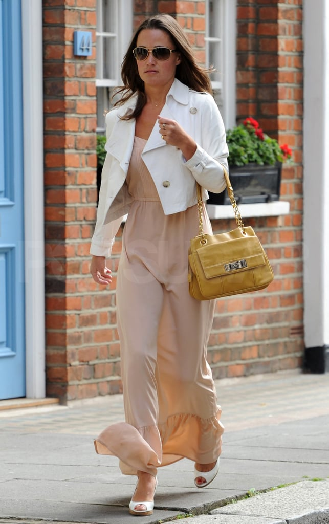 Pippa's yellow bag brought a splash of color.
