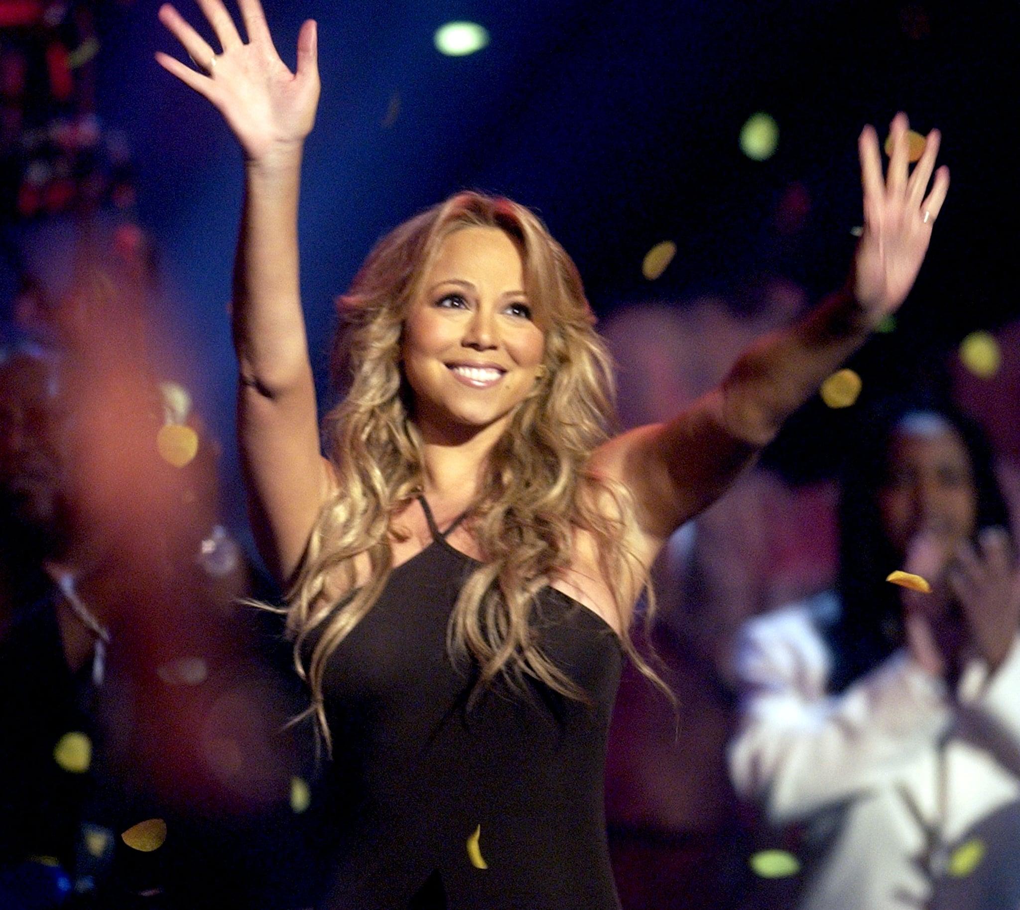 "Mariah Carey performed ""Through the Rain"" in 2003."