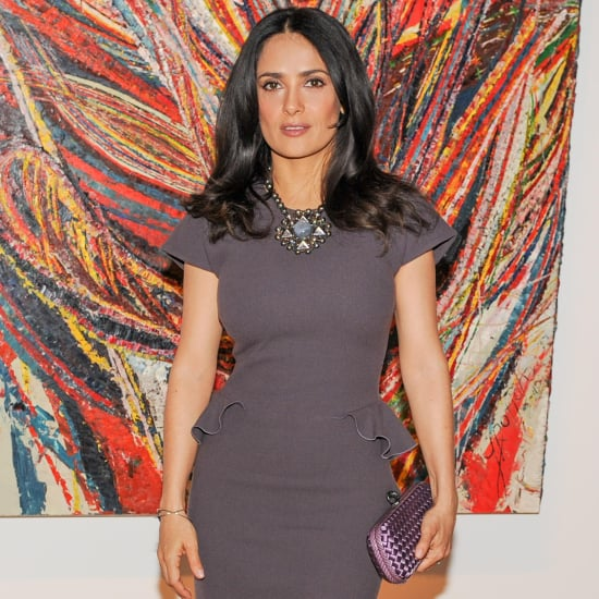 Salma Hayek Wearing Peplum Dress