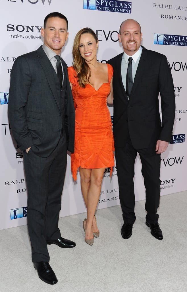 Channing Tatum, Jessica McNamee and director Michael Sucsy at the premiere of The Vow.