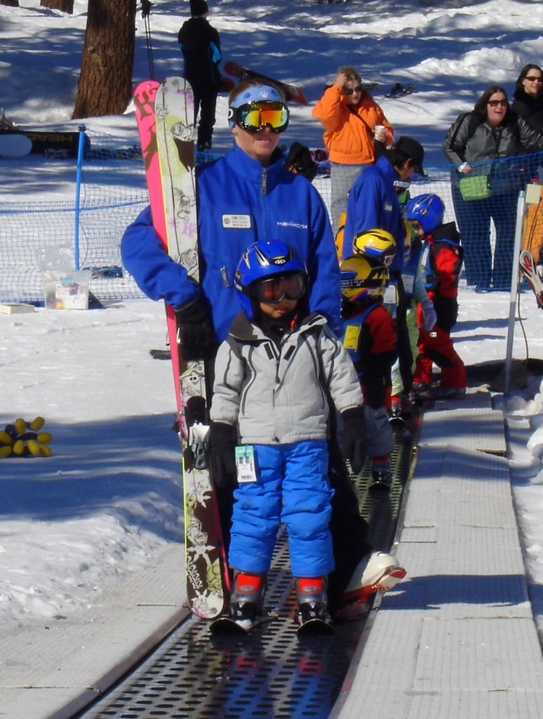 Pax Jolie-Pitt attended ski school in Mammoth, CA, during a ski trip with his family in February 2008.