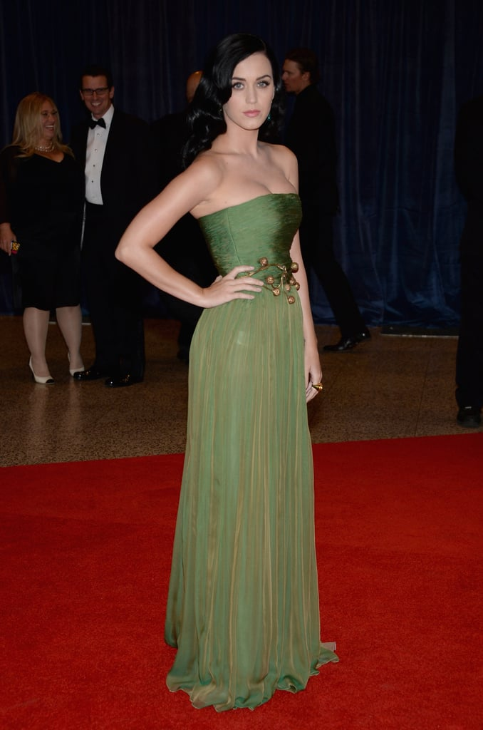 Katy Perry wore Giambattista Valli.