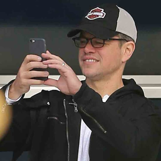 Matt Damon and His Family Ice Skating in London