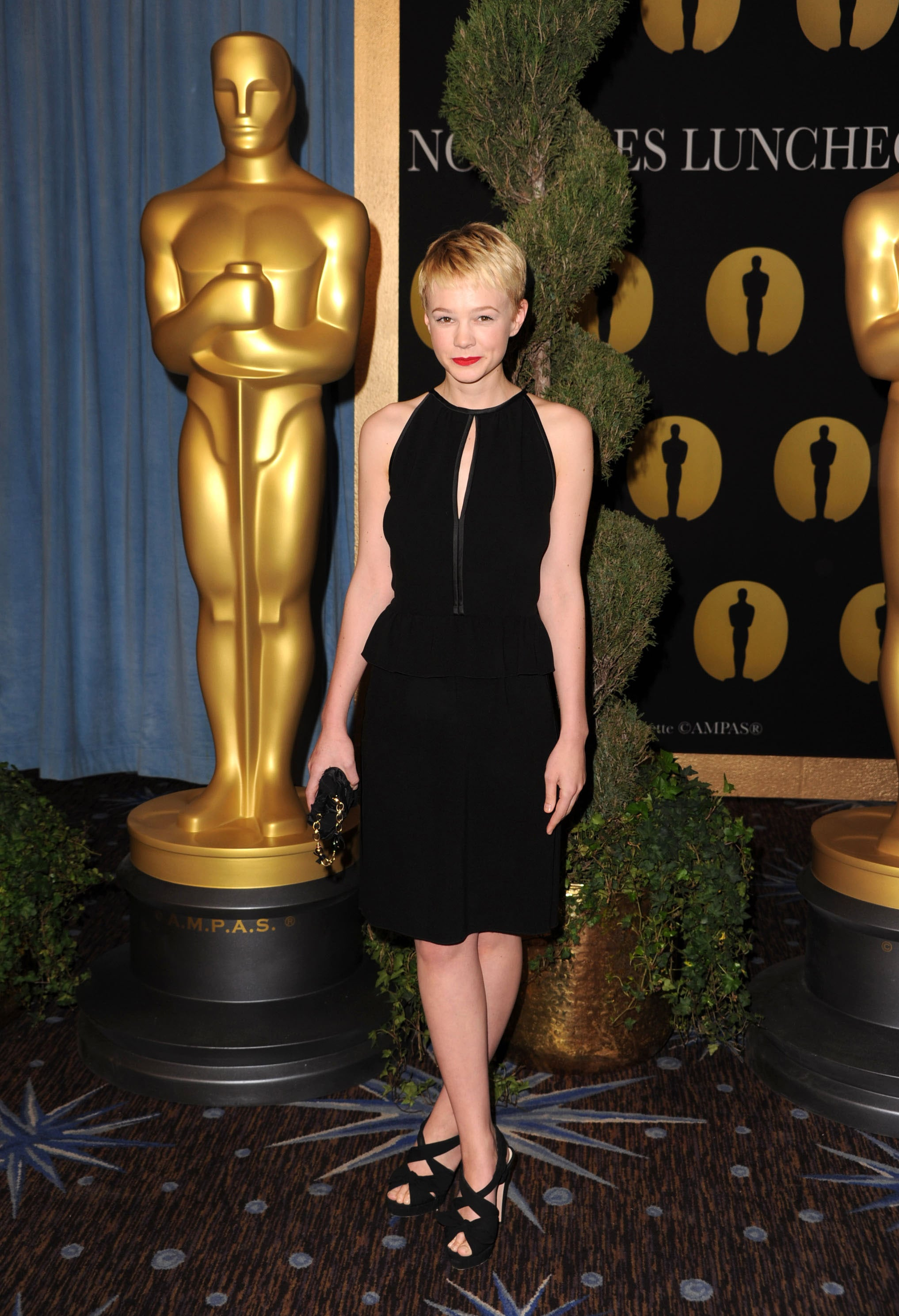 Carey Mulligan in a Little Black Dress at the 2009 Academy Awards Luncheon