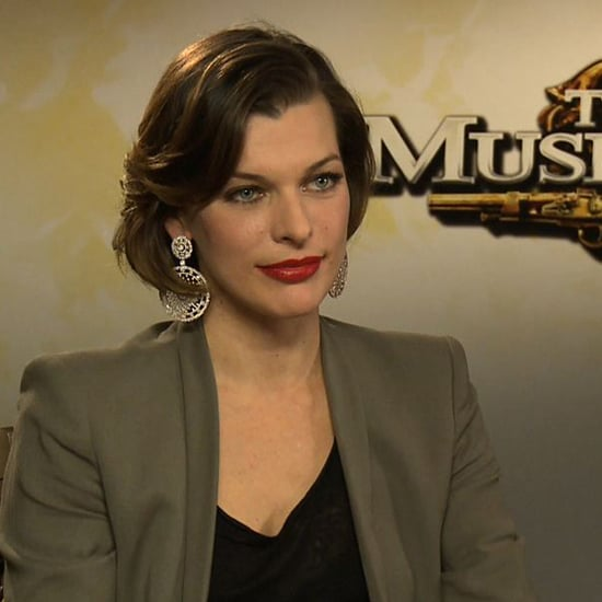 Milla Jovovich on 3 Musketeers Action Scenes & Halloween