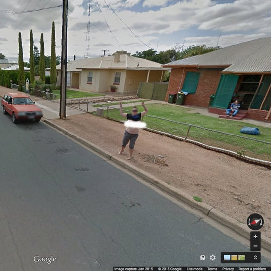 Woman Flashes Google Maps Car