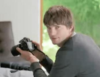 Ashton Kutcher Shows Off Nikon's Latest Camera: The D90 D-SLR
