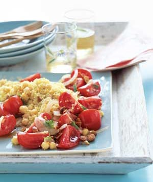 Minty Chickpea Salad With Couscous Recipe
