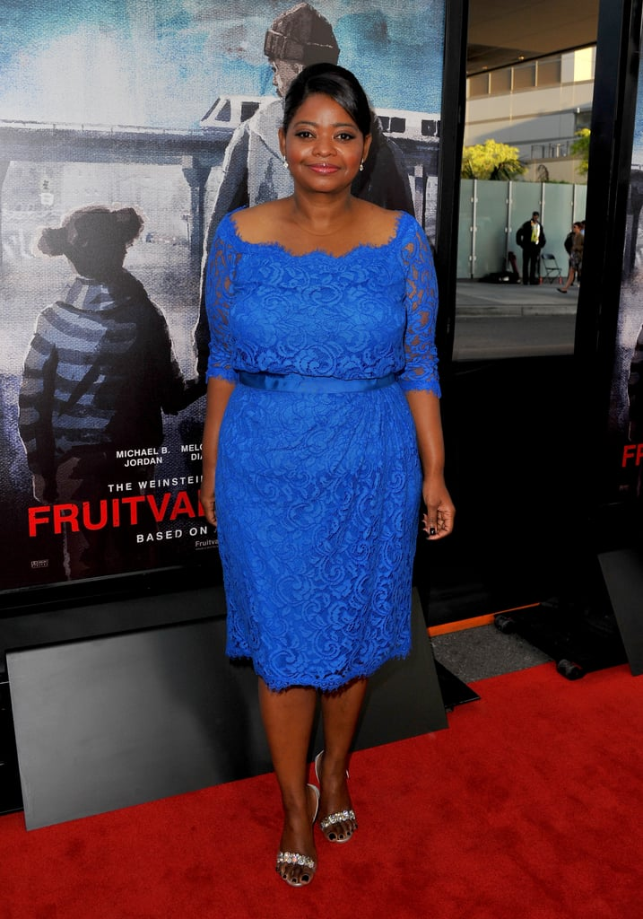 Octavia Spencer wore blue for the Fruitvale Station premiere.