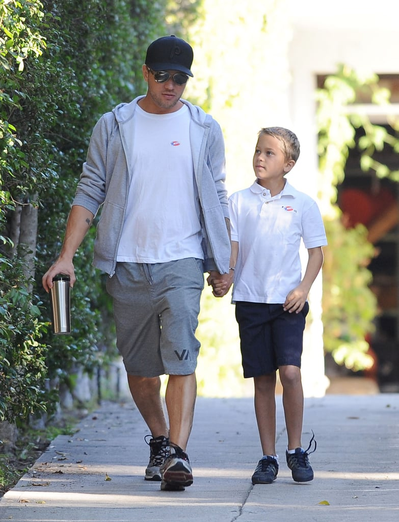 Ryan Phillippe brought his son Deacon along to experience voting in LA.