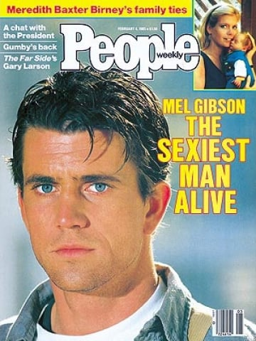 """The Sexiest Man Alive tradition started in 1985, but originally it wasn't just to celebrate male attractiveness. People had planned to do a feature on Mel Gibson when one of the female editors said, """"Oh my God, he is the sexiest man alive!"""" It was then used as the cover line and sparked the beginning of the one of the magazine's most anticipated yearly features. So that means 29-year-old Mel Gibson was the inaugural Sexiest Man Alive — and he was still an Australian citizen at the time!"""