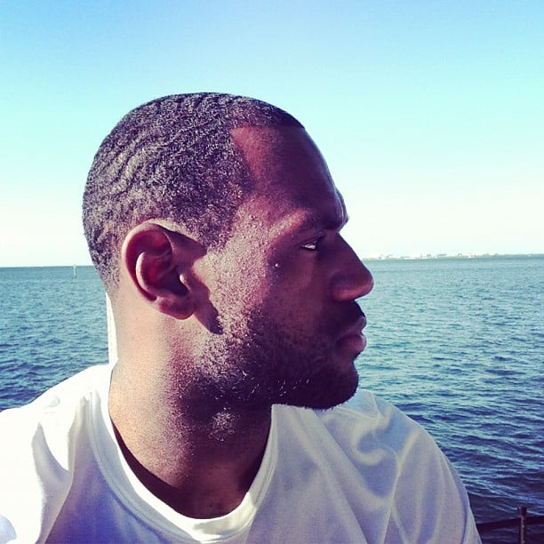 LeBron James spent some time on the water. Source: Instagram user kingjames