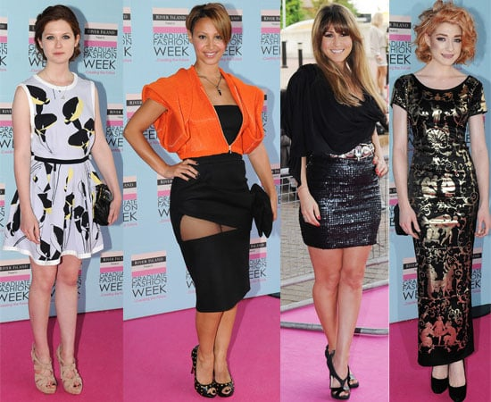 Pictures from Graduate Fashion Week Gala With Bonnie Wright, Nicola Roberts, Pregnant Rachel Stevens,