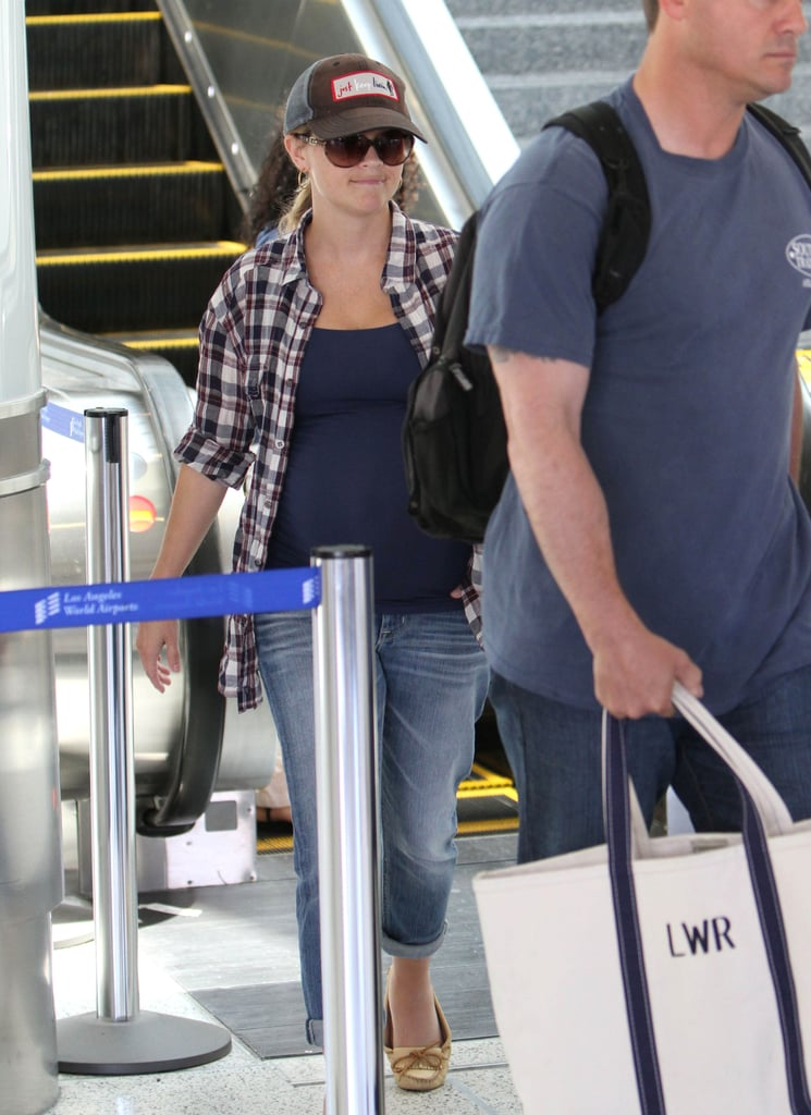 Reese Witherspoon took time off from filming to visit her family.
