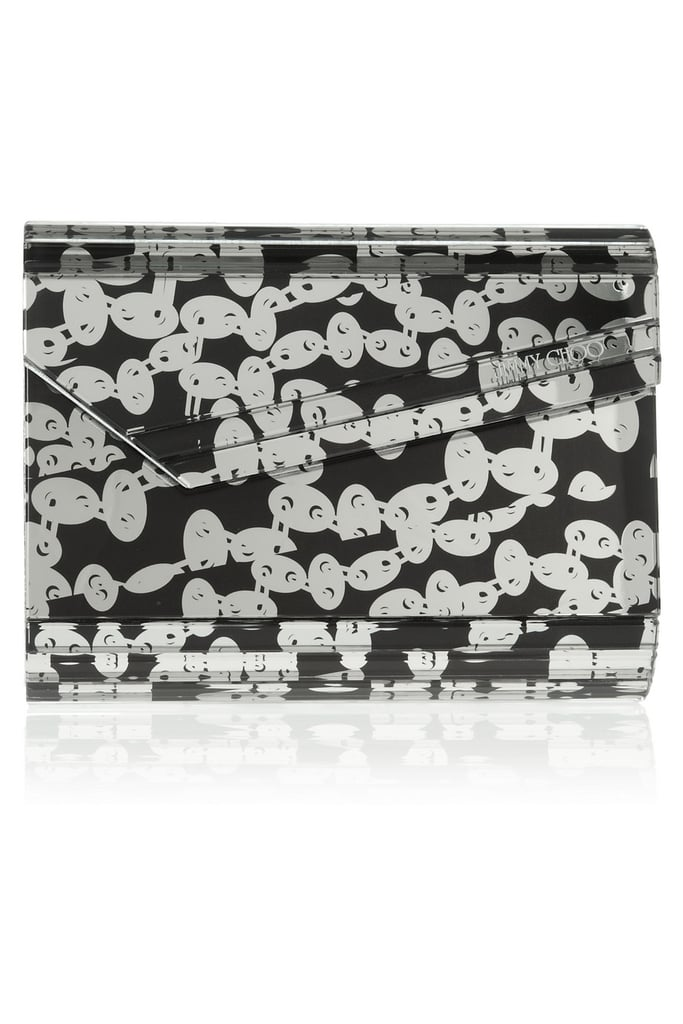 The hard evening clutch has become a Jimmy Choo staple. Pick up this black and white option ($398, originally $795) and add a touch of style to every cocktail hour from now on.